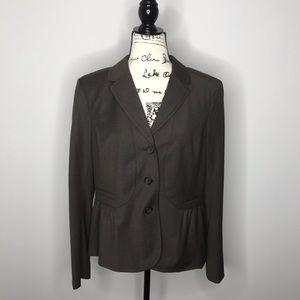NWT LOFT gray peplum blazer 14